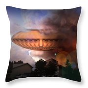 Mystic Ufo Throw Pillow