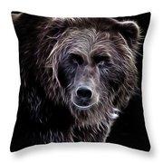 Mystical Bear Throw Pillow