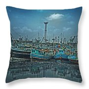 Mystical Harbor Throw Pillow