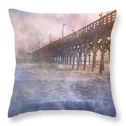 Mystical Morning Throw Pillow by Betsy Knapp