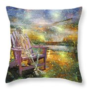 Mystical Sam On Topsail Throw Pillow