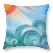 Mystical Sea Squared Throw Pillow