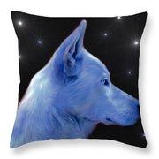Mystical Wolf Throw Pillow