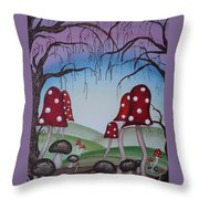 Mysticle Forest Throw Pillow