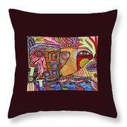 Mythical Zebra Deer Tribe Throw Pillow