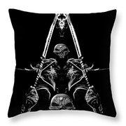 Mythology And Skulls 2 Throw Pillow