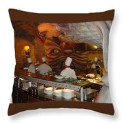 Mythos Cooks Throw Pillow