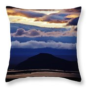 Myvatn Sunset Throw Pillow