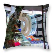 N C Roberg 7 Throw Pillow by Randall Weidner
