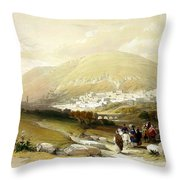 Nablus Old Shechem Throw Pillow