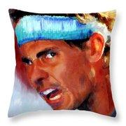 Nadal Throw Pillow