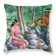 Naglilihi Or First Born  Throw Pillow