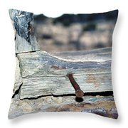 Nail On The Trail Throw Pillow