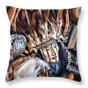 Naive American Mask Throw Pillow