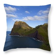 Nakalele Point-signed-#8497 Throw Pillow