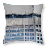 Naked Hsbc Tower V2 Throw Pillow