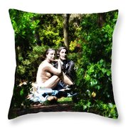Naked Lunch Throw Pillow