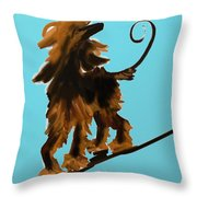 Naked One In Blue Throw Pillow