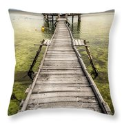 Nalusuan Island Pier Throw Pillow