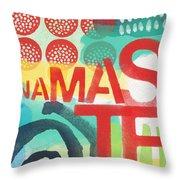 Namaste- Contemporary Abstract Art Throw Pillow