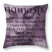 Namaste Pink Throw Pillow