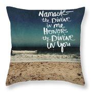 Namaste Waves  Throw Pillow