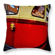 San Francisco Streetcar Throw Pillow