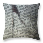 Names On A Wall Throw Pillow