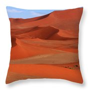 Namibian Red Sand Dunes  Throw Pillow