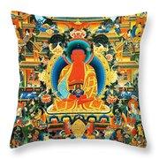 Namo Amitabha Buddha 24 Throw Pillow