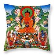 Namo Amitabha Buddha 40 Throw Pillow