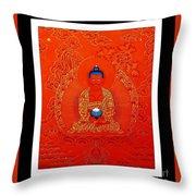 Namo Amitabha Buddha 7 Throw Pillow