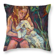 Nan And Beau Throw Pillow