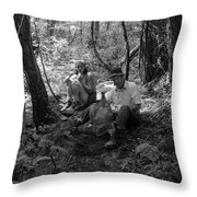 Nancy And Dad 1977 Throw Pillow