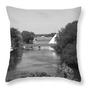 Nancy Island Channel Throw Pillow