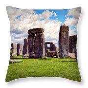 Nancy's Stonehenge Throw Pillow