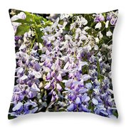 Nancys Wisteria Cropped Db Throw Pillow by Rich Franco