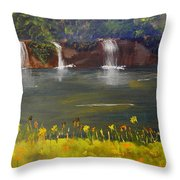 Nandroy Falls In Queensland Throw Pillow