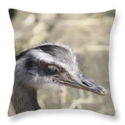 Nandu Or Rhea Portrait Throw Pillow