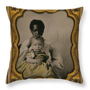 Nanny And Child, C1855 Throw Pillow