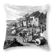 Nantucket, 19th Century Throw Pillow