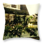 Nantucket Cottage Throw Pillow