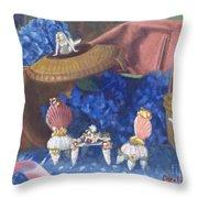 Nantucket Mermaid Tea Throw Pillow