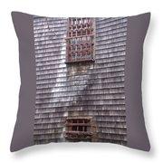 Nantucket Olde Gaol Windows Throw Pillow