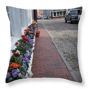 Nantucket Street Scene Throw Pillow