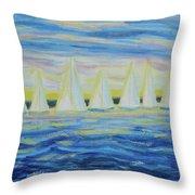 Nantucket Sunrise Throw Pillow