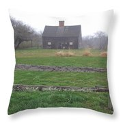 Nantucket's Oldest House Throw Pillow