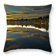Naomi Sunset Throw Pillow