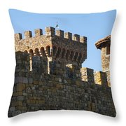 Napa Valley Castle Winery Throw Pillow