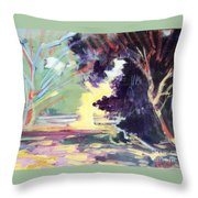 Napa Valley Forest Fall Throw Pillow